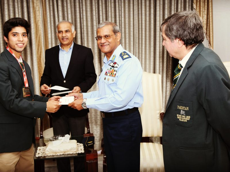 Appreciation from Air chief Marshal Sohial Aman.